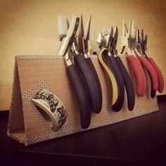 Recyclage, recycled, reciclaje.  Storage tools jewelry,  Organizador herramientas bisutería.