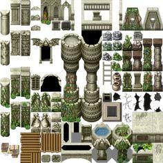 Pokemon Maker, Rpg Maker Vx, Dungeons And Dragons Miniatures, Pokemon Rpg, Video Game Sprites, Tile Art, Tiles, 2d Game Art, Pixel Design