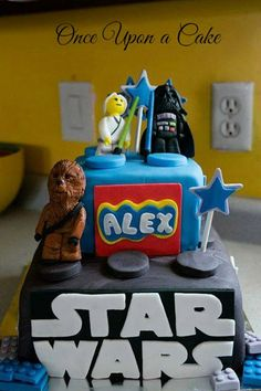 Fondant / Gumpaste Lego Chewie Darth or Your Choice by UponACake