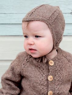 Knitting For Kids, Baby Knitting Patterns, Knit Crochet, Crochet Pattern, Crochet Hats, Diy Baby, Baby Hats, Alter, Knit Cardigan