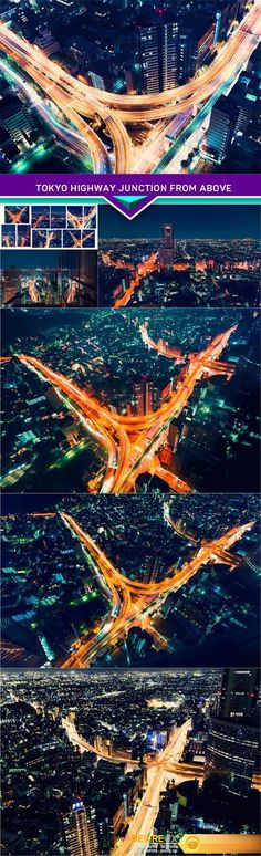 Tokyo highway junction from above 7X JPEG  http://www.desirefx.me/tokyo-highway-junction-from-above-7x-jpeg/