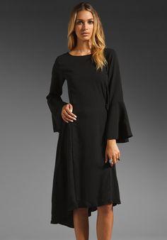 Gypsy Junkies Salem Cloak Dress in Noir