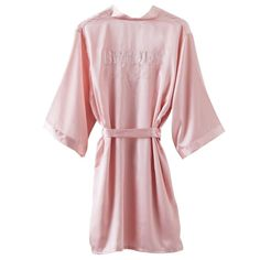 Blush Pink Brides Besties Dressing Gown - Hen Party Accessories (each): Brides Besties silky dressing gown Blush Pink with White embroidery Body length: Arms: wide x long One size fits most - Size Rosa Satin, Satin Rose, Bridal Party Robes, Party Gowns, Tutu Rock, Hen Party Accessories, Peignoir, Bridesmaid Robes, Bridesmaids