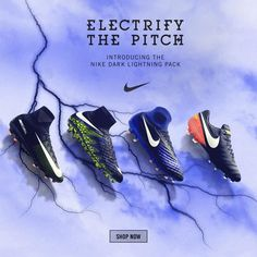 Nike Dark Lightning pack. Shipping now from SoccerPro! Shop: http://www.soccerpro.com/Nike-Soccer-Cleats-c338/