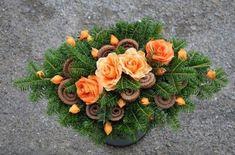 Love European style botanical arrangements Christmas Flower Arrangements, Funeral Flower Arrangements, Modern Flower Arrangements, Flower Crafts, Diy Flowers, Paper Flowers, Grave Flowers, Funeral Flowers, Handmade Decorations