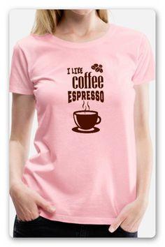 """EINE TASSE KAFFEE MIT DEM TEXT """"I LIKE COFFEE ESPRESSO"""", DU LIEBST KAFFEE  KLATSCH IM KAFFEEHAUS UND KAFFEE TRINKEN IST DIR AUCH NICHT FREMD,  DANN IST DAS T-SHIRT DAS RICHTIGE FÜR DICH. SHIRT KAUFEN Trends, Pullover, Espresso, V Neck, T Shirt, Tops, Women, Fashion, Drinking Coffee"""