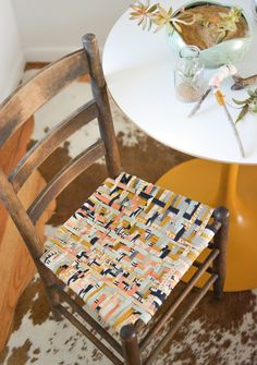 Upcycled chair, How to weave a chair seat | Mollie Makes issue 43