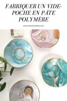 Fabriquer un vide-poche en pâte polymère / DIY pate fimo / DIY vide-poche fimo
