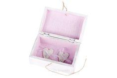 #Caja #anillos Natalia y Diego, de estilo #rústico y #floral, pintada a mano. www.lolagranado.com