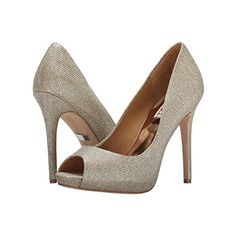 Womens Shoes Badgley Mischka Ponderosa Latte Diamond Drill Fabric