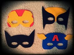 DC and Marvel Super Hero Masks - I could make these easily with foam. Party favor?