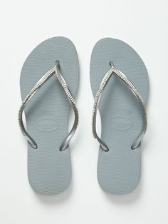 b2b0dae9419a0 Customized Crystal Applique Flip Flops by Havaianas at Gilt