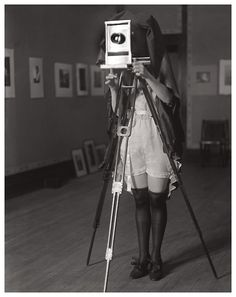 Just a gal in her undergarments behind the camera circa 1920s. #1920s #photography
