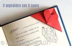 Origami da 1 minuto: il segnalibro ad angolo con il cuore sagomato