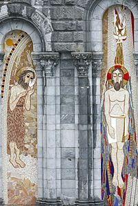 La Basilique Notre-Dame-du-Rosaire.Mosaïques. Lourdes Midi-Pyrénées