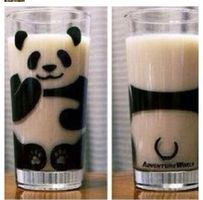 This exact panda cup. When you add milk it fills on where the white fur should be! So cute! Panda Kawaii, Cute Panda, Pink Panda, Hello Panda, Panda Party, Little Presents, Idee Diy, Inventions, Diy And Crafts