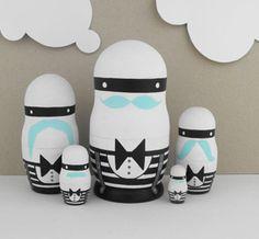 Mustache Nesting Dolls on Uncovet.com