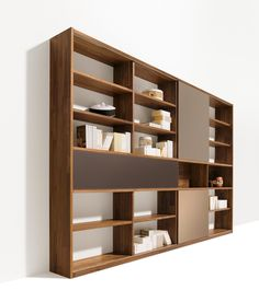 cubus library by TEAM 7 | Library shelving