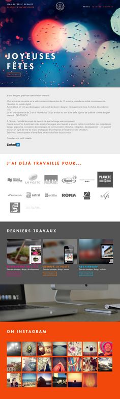 Jean-Frederic SCHMITT - Flat Design Website