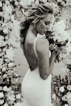 Scottie's unique lace and plunging back will mesmerise you into a beautiful trance. Lily Grace, Scottie, Designer Wedding Dresses, Bridal Gowns, Compliments, Love Her, Floral Design, Editorial, Tulle