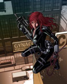 Black Widow by Mike Deodato Jr. and Rain Beredo *