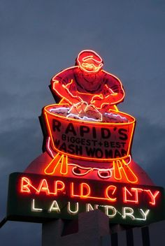 Rapid City Wash Woman.  Love these old signs!   @Patricia Smith Nickens Derryberry Rapid City