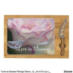 """""""Love in Summer""""Design Cheese Board Rectangular Cheeseboard"""