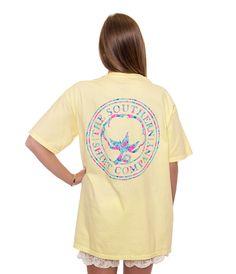 Flower Logo | Pastel Yellow | The Southern Shirt Company