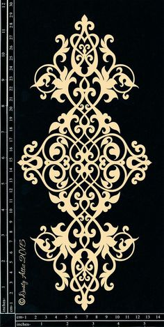Discover thousands of images about Scrollwork Mais Stencil Patterns, Stencil Designs, Pattern Art, Embroidery Patterns, Pattern Design, Motifs Islamiques, Stencils, Damask Stencil, Scroll Saw Patterns