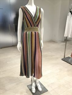 ‪These dress is a dream to wear   @MMissoniLive @Missoni #Womens Metallic Striped Maxi Dress @BarneysNY  @barby_ds ‬
