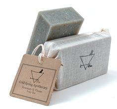 rosemary & thyme soap PD #design #packaging