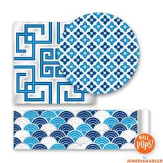 Jonathan Adler for WallPops line. Carnaby Dots, Blox and Stripes.