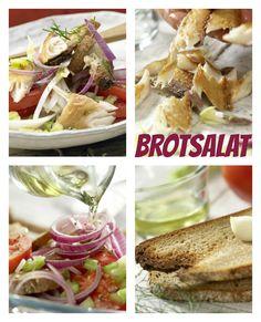Saftig geräucherter Fisch trifft auf Croûtons: Bornholmer Brotsalat mit Makrelenfilet |  http://eatsmarter.de/rezepte/bornholmer-brotsalat