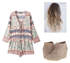 """""""Romper Season"""" by steph-dancer3 ❤ liked on Polyvore featuring Chicnova Fashion and TOMS"""
