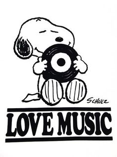 Snoopy Love music | Snoopy | Pinterest | Snoopy, Music and Charlie Brown