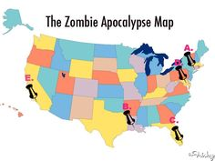 The Zombie Apocalypse Map - Just in case...