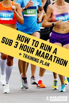 For many intermediate endurance runners, completing a sub 3 hour marathon is the pinnacle of their running journey and a huge life achievement. Here, our expert coaches guide you through a 20-week sub 3 hour marathon training plan involving speed work, cross training, and gradual mileage increases to get to your goal. Includes a free downloadable training plan! Running For Beginners, Running Tips, Road Running, Trail Running, Marathon Tips, Marathon Running, Training Plan, Cross Training, Health And Wellness Coach