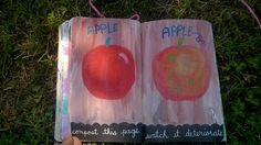 wreck this jounal: ( APPLE) COMPOST THIS PAGE. WHATC IT DETERIORATE,APPLE IS DESIGNED ONLY