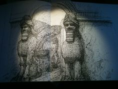 Assyrian Gates from the sketchbook of Jonny Dixon (www.jonnydixon.co.uk) Sketchbooks, Gates, Artwork, Art Work, Work Of Art, Auguste Rodin Artwork, Sketch Books, Gate