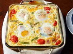 Egg, Ham and Asparagus Breakfast Bake