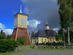 Merijärvi church, Northern Ostrobothnia, Finland. Pohjois-Pohjanmaa.
