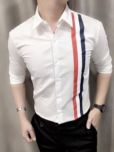 Mens Designer Shirts, Designer Suits For Men, Casual Wear For Men, Stylish Mens Outfits, Formal Shirts For Men, Casual Shirts, Mens Fashion Wear, Fashion Outfits, Gents Kurta Design