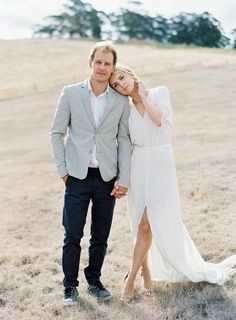 30 Casual Wedding Dresses For Effortlessly Chic Brides - If you don't like fuss and months of preparations, then pick casual style for your big day and a - Engagement Photo Outfits, Engagement Photo Inspiration, Engagement Couple, Engagement Pictures, Engagement Shoots, Engagement Photography, Wedding Engagement, Wedding Photography, Formal Engagement Photos
