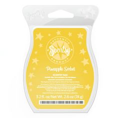 New Scentsy Spring & Summer fragrance – Pineapple Sorbet:  Sweet and tart, like a refreshing scoop of pineapple sorbet.