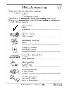 Can you figure out the word? Homographs are words with multiple meanings. In this vocabulary-building worksheet, your child will write the word that matches all three definitions given.