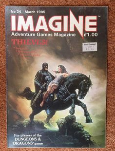 IMAGINE Magazine Issue 24 March 1985 TSR UK Dungeons & Dragons    eBay