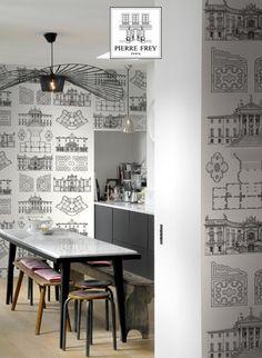 Architektonische Zeichnungen Für Das Wanddesign #französisch #küche #design