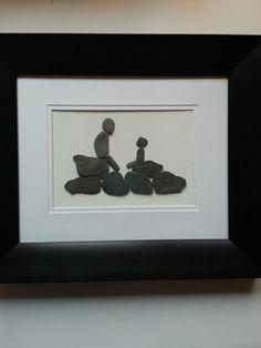 Pebble Art unique gift father son time gift by BackFromTheBeachStu