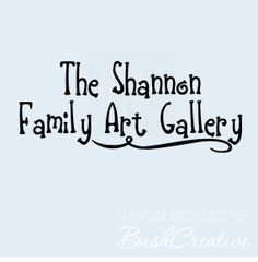 Personalized Family Art Display Gallery Wall Decal by bushcreative, $18.00