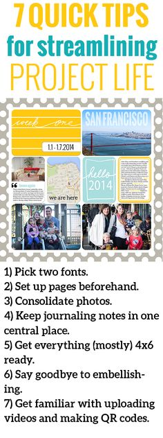 Project Life 7 Ways to Streamline Digital Scrapbooking -<br>